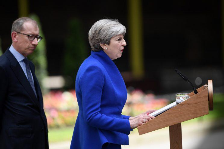 Theresa May is under huge pressure after a disastrous General Election stripped her of a majority (Carl Court/Getty Images)
