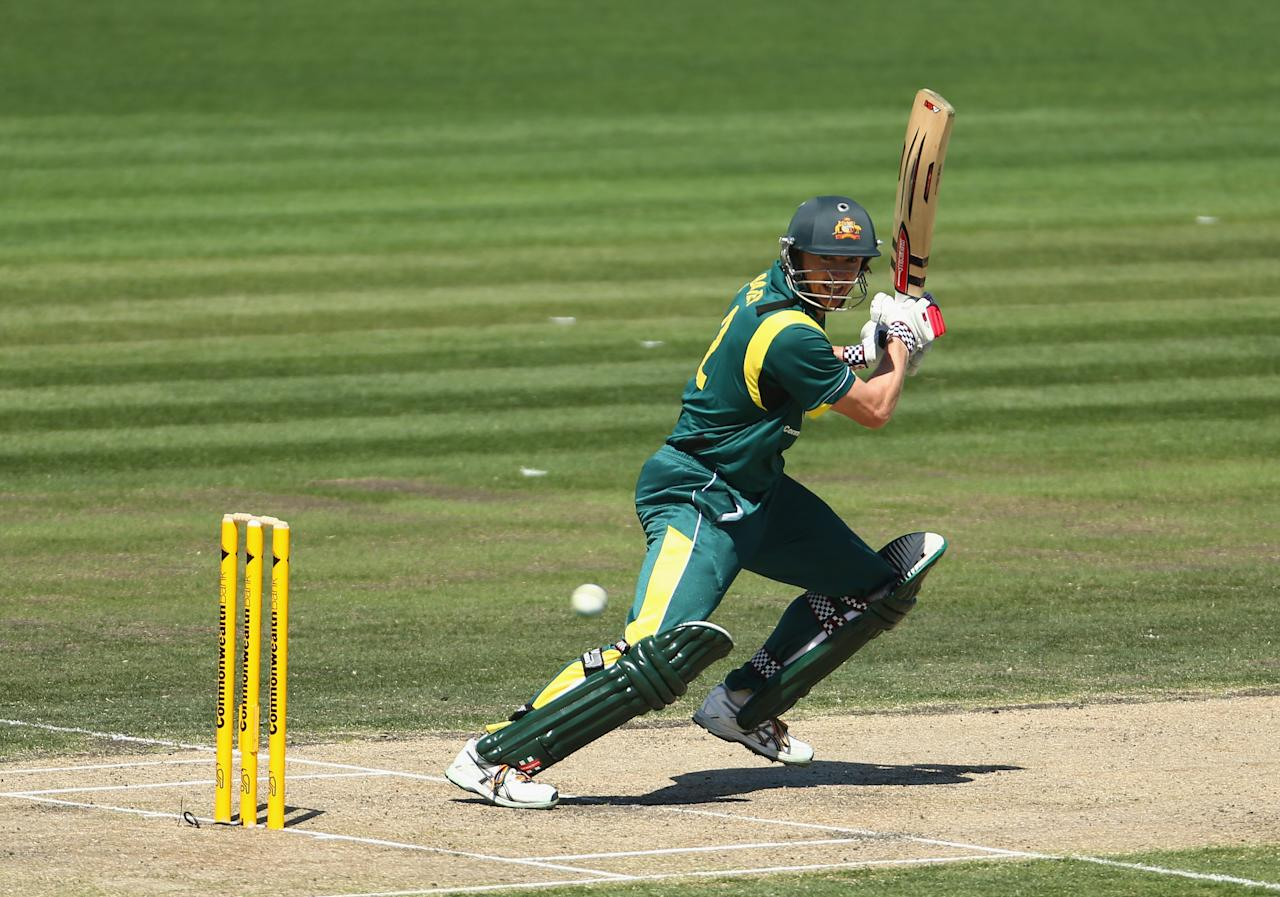 HOBART, AUSTRALIA - JANUARY 23: George Bailey of Australia bats during game five of the Commonwealth Bank One Day International Series between Australia and Sri Lanka at Blundstone Arena on January 23, 2013 in Hobart, Australia.  (Photo by Robert Cianflone/Getty Images)