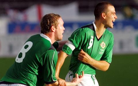 Grant McCann playing for Northern Ireland - Credit: AP