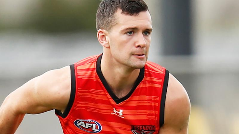 Conor McKenna, pictured here at an Essendon training session.