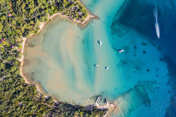 The picture perfect beach in Rab island in Croatia was voted the top beach by Croatian families. (Getty Images)
