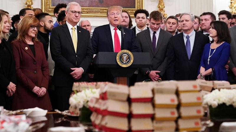 Trump Welcomes NDSU Football Team With Fast Food Spread