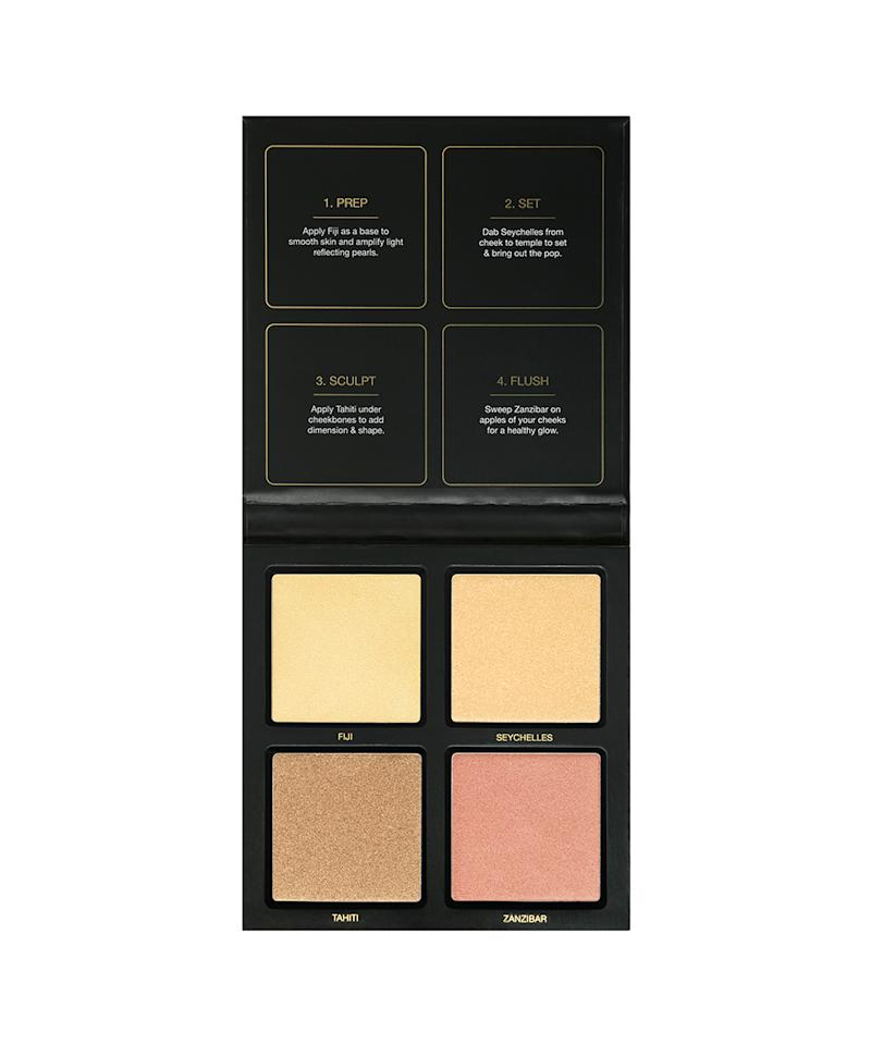 "<p>$45, <a rel=""nofollow"" href=""http://shophudabeauty.com/product/3d-highlighter-palette-golden-sands/?v=7516fd43adaa"">shophudabeauty.com</a> (Photo: Huda Beauty) </p>"