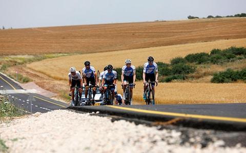 The Israel Cycling Academy team training near Kibbutz Beit Guvrin - Credit: GEtty