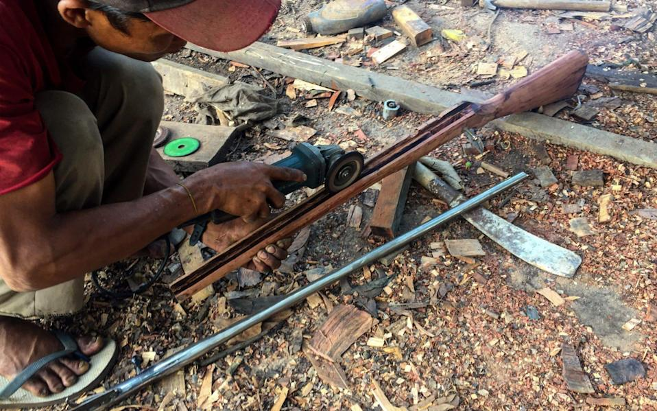 Guns made by hand are helping to arm makeshift resistance armies