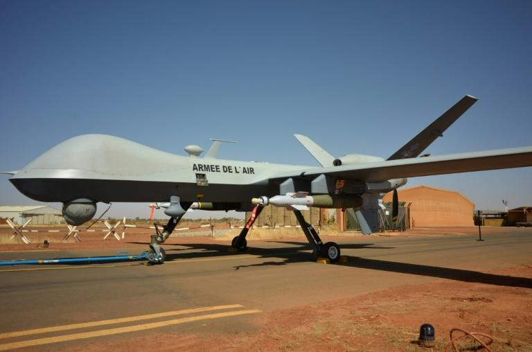 An armed MQ-9 Reaper drone operated by the French military in Niger
