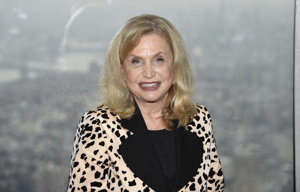 U.S. Representative Carolyn Maloney, D-N.Y., participates in a New York Fashion Week kickoff event at the Empire State Building on Thursday, Sept. 9, 2021, in New York. (Photo by Evan Agostini/Invision/AP)