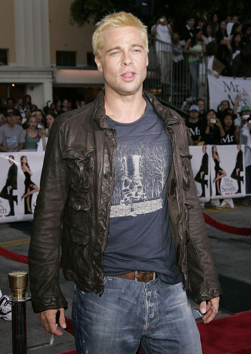 <p>Brad Pitt starred <em>Mr. & Mrs. Smith</em> in 2005. Although the reviews for the film weren't great, the actor delivered drama on-screen and off when after an affair with his costar, Angelina Jolie, caused him to split from Jennifer Aniston. </p>