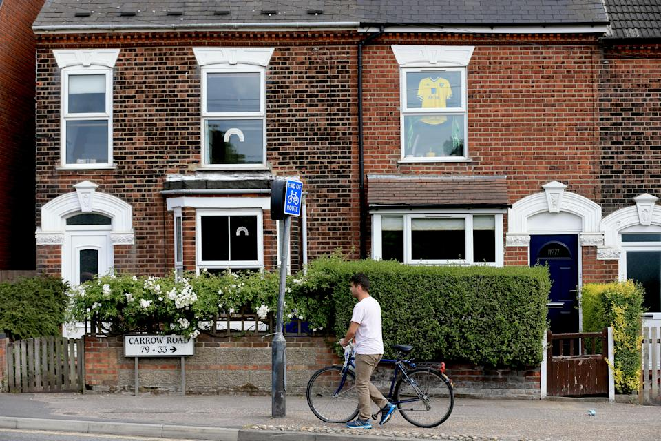 Homes in Norwich as mortgage lending picks up. Photo: Stephen Pond/Getty Images