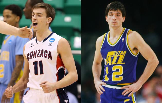 David Stockton's family has a long history of playing for Gonzaga.  His great grandfather played halfback for the school and his father, a former NBA point guard for the Utah Jazz, played there in college, too.