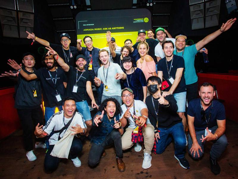 A photo taken at last year's WMW, where attendees got up close and personal with keynote speakers such as Armada Music.