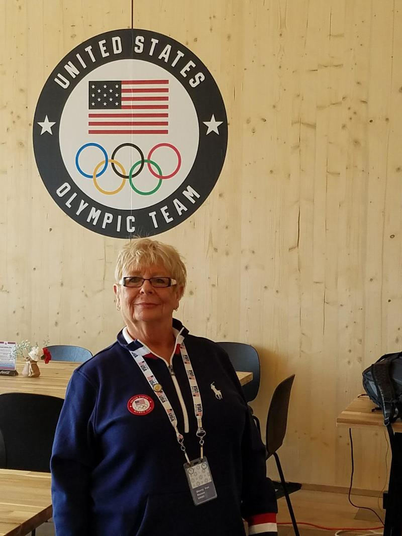 Sherry Von Riesen, the U.S. Olympic team mom.