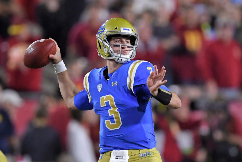 UCLA quarterback Josh Rosen went to Arizona in the draft after the Cardinals traded up to get him. (AP)