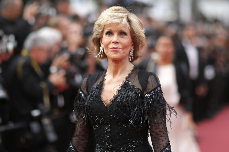 "71st Cannes Film Festival - Screening of the film ""Sink or Swim"" (Le grand bain) out of competition - Red Carpet Arrivals - Cannes, France, May 13, 2018 - Jane Fonda arrives. REUTERS/Stephane Mahe"