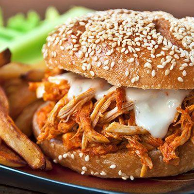 """<p>Save this for when you're ready for an anti-Thanksgiving flavored meal. Mild turkey makes a great sub for chicken, and piles of spicy sauce and blue cheese make it mouthwateringly good.</p><p><strong><a href=""""https://www.countryliving.com/food-drinks/recipes/a34385/buffalo-turkey-sandwich-recipe-wdy1113/"""" rel=""""nofollow noopener"""" target=""""_blank"""" data-ylk=""""slk:Get the recipe"""" class=""""link rapid-noclick-resp"""">Get the recipe</a>.</strong></p><p><strong><a class=""""link rapid-noclick-resp"""" href=""""https://www.amazon.com/Premium-Stainless-Steel-Mixing-Brushed/dp/B01HTYH8YA/?tag=syn-yahoo-20&ascsubtag=%5Bartid%7C10050.g.1064%5Bsrc%7Cyahoo-us"""" rel=""""nofollow noopener"""" target=""""_blank"""" data-ylk=""""slk:SHOP MIXING BOWLS"""">SHOP MIXING BOWLS</a><br></strong></p>"""