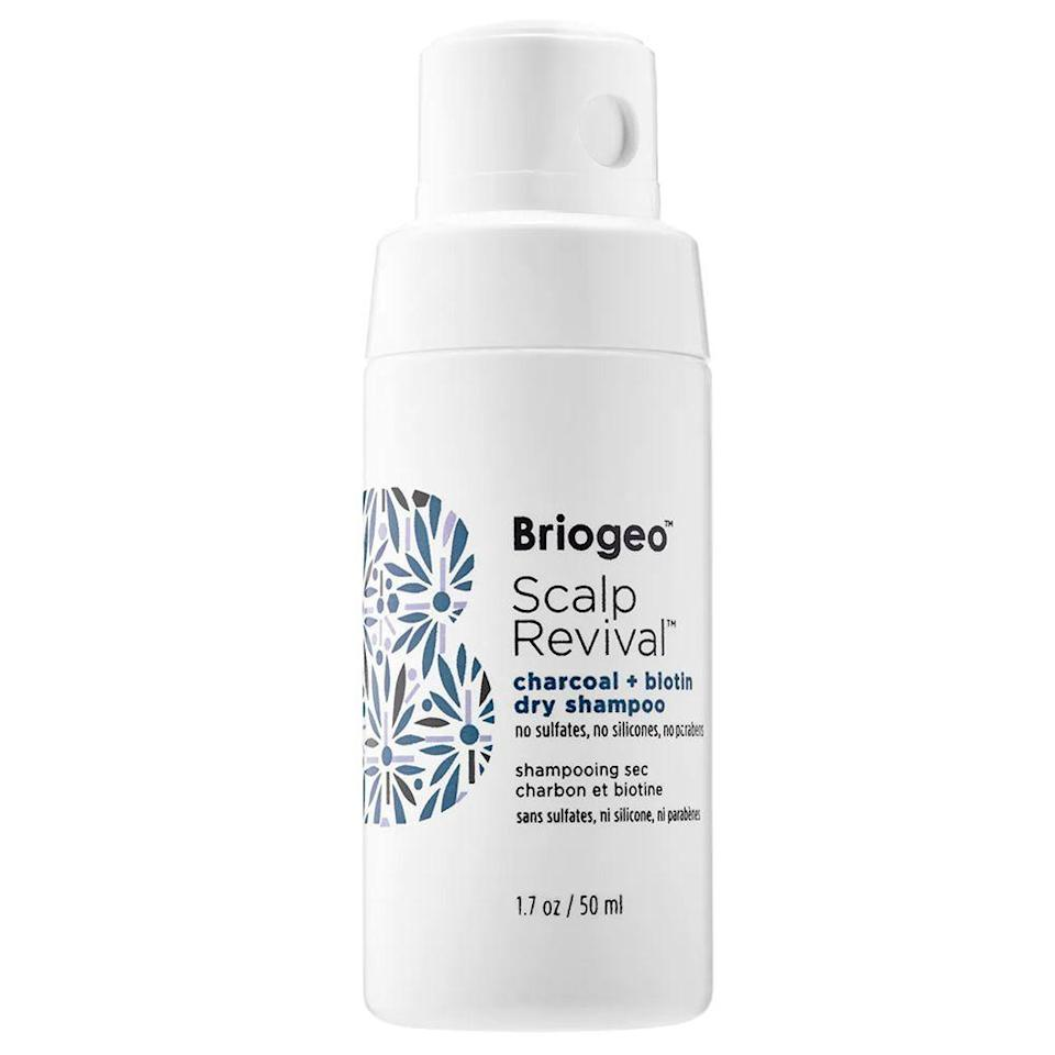 """<p><strong>Briogeo</strong></p><p>sephora.com</p><p><strong>$24.00</strong></p><p><a href=""""https://go.redirectingat.com?id=74968X1596630&url=https%3A%2F%2Fwww.sephora.com%2Fproduct%2Fscalp-revival-charcoal-biotin-dry-shampoo-P418505&sref=https%3A%2F%2Fwww.bestproducts.com%2Fbeauty%2Fg36410459%2Fhow-to-get-rid-of-greasy-hair%2F"""" rel=""""nofollow noopener"""" target=""""_blank"""" data-ylk=""""slk:Shop Now"""" class=""""link rapid-noclick-resp"""">Shop Now</a></p><p>As Farel advised, you should definitely keep your wash days to a minimum. So, to refresh your locks on those no-shower days, spritz Briogeo's invigorating dry shampoo on your tresses. It's infused with charcoal to give your strands a deep-clean feel without leaving a white residue on darker hair colors.<br></p>"""