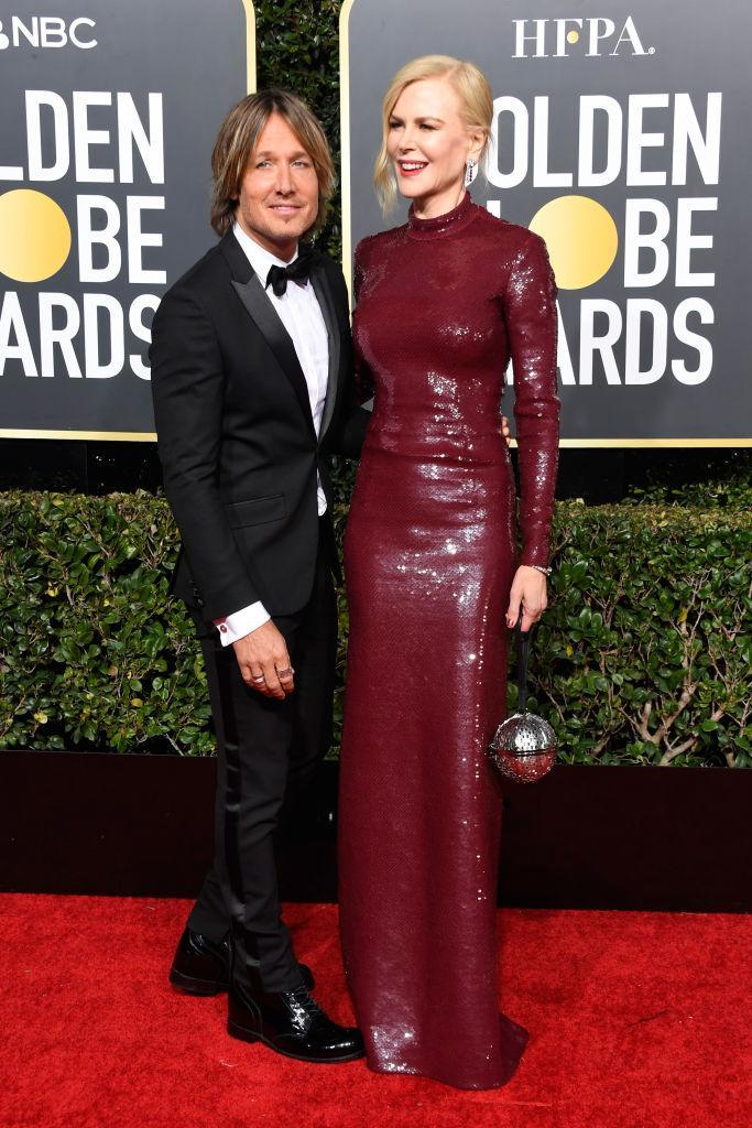 <p>Keith Urban and Nicole Kidman attend the 76th Annual Golden Globe Awards at the Beverly Hilton Hotel in Beverly Hills, Calif., on Jan. 6, 2019. (Photo: Getty Images) </p>