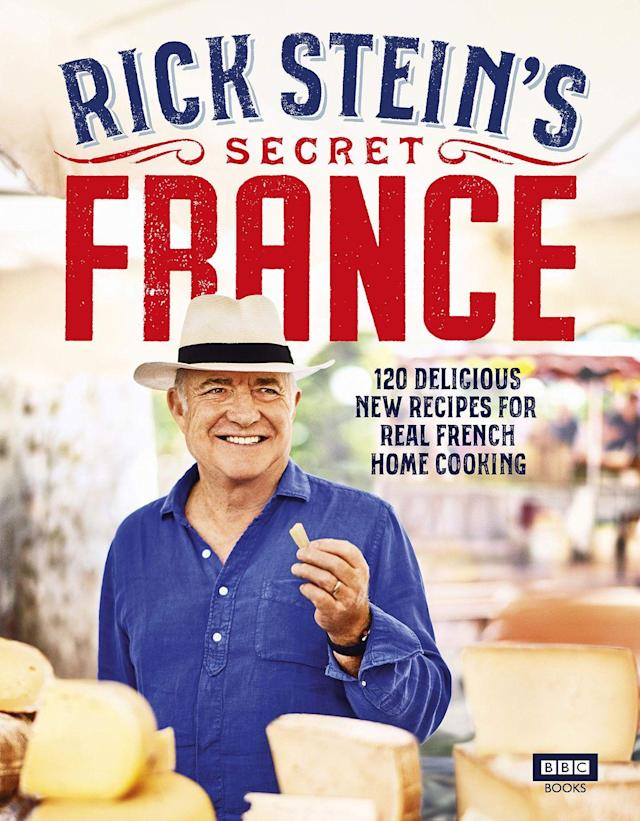 """<p>Rick Stein returns with an all-new cookbook making us fall head over heels in love with French food all over again.<br></p><p><a class=""""link rapid-noclick-resp"""" href=""""https://www.amazon.co.uk/Rick-Steins-Secret-France-Stein/dp/178594388X/ref=sr_1_1?keywords=rick+stein+secret+france&qid=1567416699&s=gateway&sr=8-1&tag=hearstuk-yahoo-21&ascsubtag=%5Bartid%7C2159.g.28871146%5Bsrc%7Cyahoo-uk"""" rel=""""nofollow noopener"""" target=""""_blank"""" data-ylk=""""slk:BUY NOW"""">BUY NOW </a> <strong>Rick Stein's Secret France, amazon.co.uk </strong></p>"""