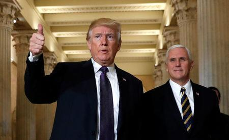 Trump visits the Capitol to discuss a tax legislation in Washington