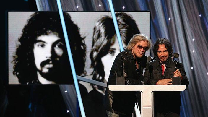 Daryl Hall and John Oates at their Rock and Roll Hall of Fame induction