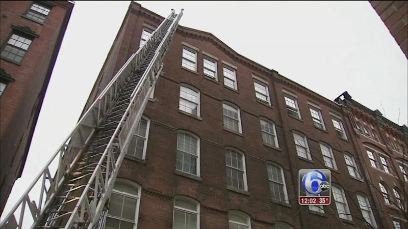 Fire in old city apartment building displaces several for City apartment building