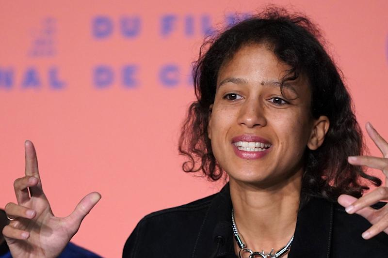 Mati Diop, 36, grew up in France and belongs to a Senegalese artistic dynasty including her uncle, acclaimed director Djibril Diop Mambety, and her father, musician Wasis Diop. (AFP Photo/Sébastien BERDA)