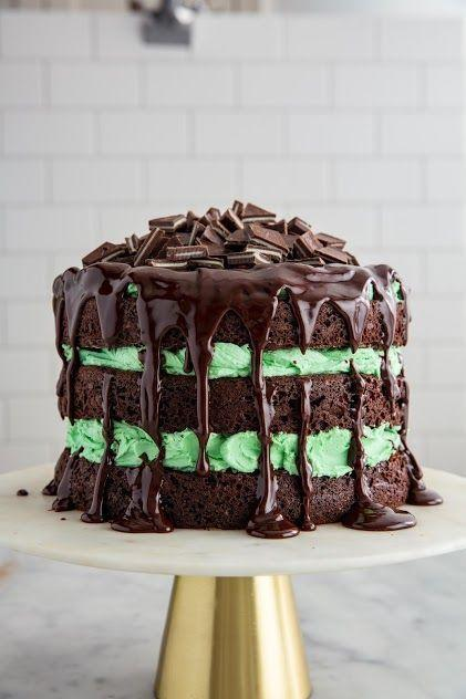 """<p>If you're a fan of the classic Andes mints you'll love this minty chocolatey cake. </p><p><strong><em>Get the recipe at <a href=""""https://www.delish.com/cooking/recipe-ideas/recipes/a50654/andes-chocolate-cake-recipe/"""" rel=""""nofollow noopener"""" target=""""_blank"""" data-ylk=""""slk:Delish"""" class=""""link rapid-noclick-resp"""">Delish</a>. </em></strong><br></p>"""
