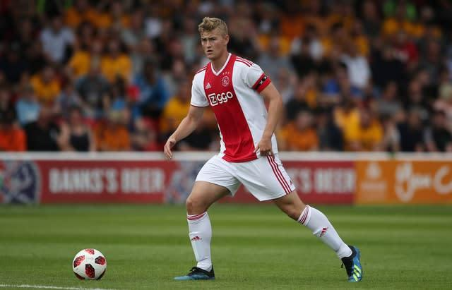 Matthijs De Ligt has captained Ajax as a teenager (Nick Potts/PA)