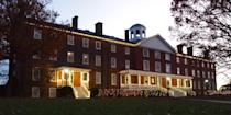 """<p><strong>Established in 1775</strong></p><p><strong>Location: Hampden Sydney, Virginia<br></strong></p><p>Hampden-Sydney, a men's liberal arts college, was the <a href=""""http://www.hsc.edu/about-h-sc/history"""" rel=""""nofollow noopener"""" target=""""_blank"""" data-ylk=""""slk:last American college"""" class=""""link rapid-noclick-resp"""">last American college</a> founded in British Colonial America and the last college founded before the American Declaration of Independence was signed. It is now one of only three men's-only liberal arts colleges in the U.S. </p>"""