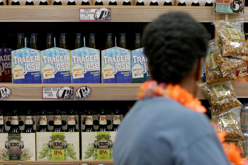 Trader Joe's beer is seen on the shelf during the grand opening of a Trader Joe's on October 18, 2013 in Pinecrest, Florida.