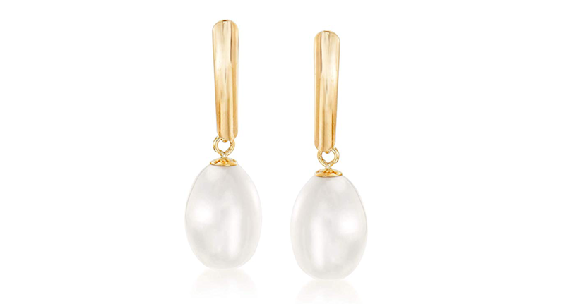 Ross-Simons Cultured Pearl Drop Earrings in 14kt Yellow Gold (Credit: Amazon)
