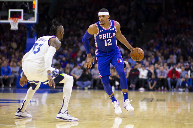 The Sixers might not have Tobias Harris if they kept their core, but they would have Robert Covington and a boatload of assets. (Mitchell Leff/Getty Images)