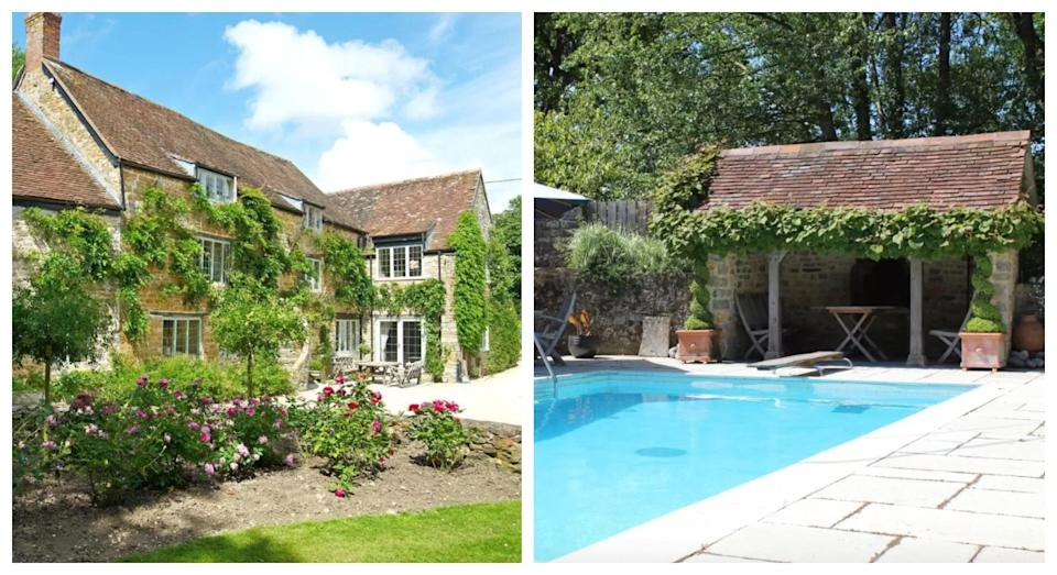 Book out this five-bedroom abode for a lush al fresco pool (Booking.com)