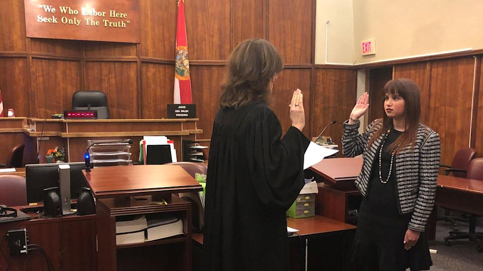 Haley Moss was sworn in to the Florida Bar on Jan. 11. (Credit: Haley Moss)