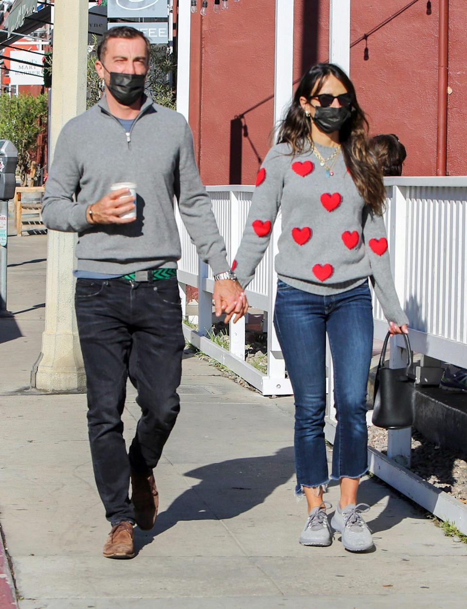 <p>Jordana Brewster and new love Mason Morfit walk hand-in-hand while out Tuesday in L.A.</p>