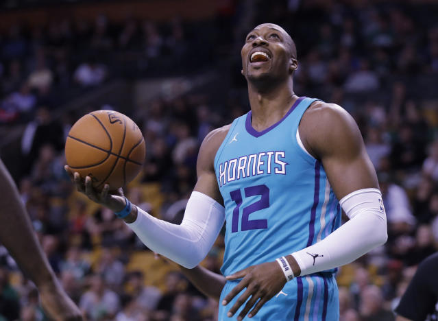 """<a class=""""link rapid-noclick-resp"""" href=""""/nba/players/3818/"""" data-ylk=""""slk:Dwight Howard"""">Dwight Howard</a> joins his third team in three years hoping for a fresh start and a return to the playoffs. (AP)"""