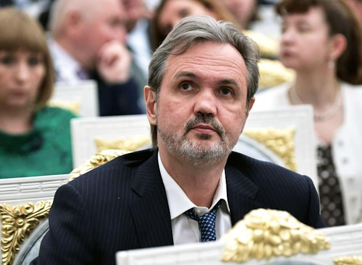 """<div class=""""inline-image__caption""""> <p>Andrei Kovalchuk often attended formal Russian state events. </p> </div> <div class=""""inline-image__credit""""> Aleksey Nikolskyi/Sputnik </div>"""
