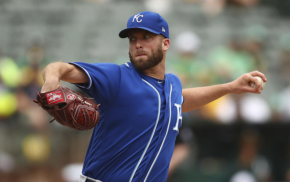 Danny Duffy's home was broken into over the weekend, by a woman who claimed she was looking for Elon Musk, founder of the Tesla car company. (AP Photo/Ben Margot)