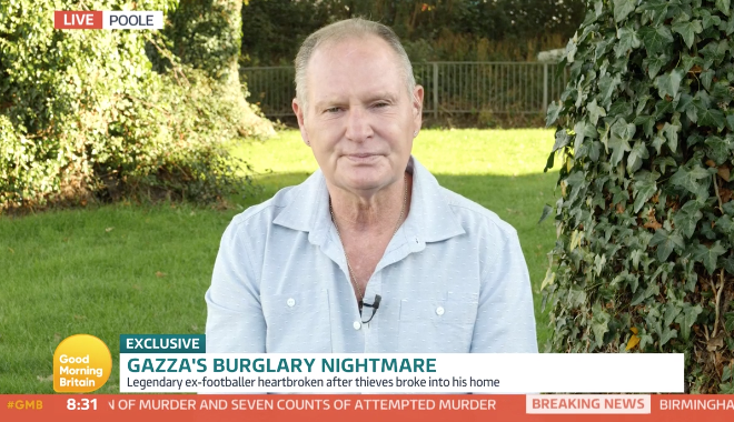 Paul Gascoigne appeals to the thieves who stole his father's possessions on Good Morning Britain