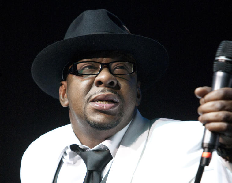 FILE - In this Feb. 18, 2012 file photo, singer Bobby Brown, former husband of the late Whitney Houston performs with New Edition at Mohegan Sun Casino in Uncasville, Conn. A judge sentenced Brown to 55 days in a Los Angeles jail Tuesday, Feb. 26, 2013 after the singer pleaded no contest to a drunken driving charge and driving on a suspended license. (AP Photo/Joe Giblin, file)