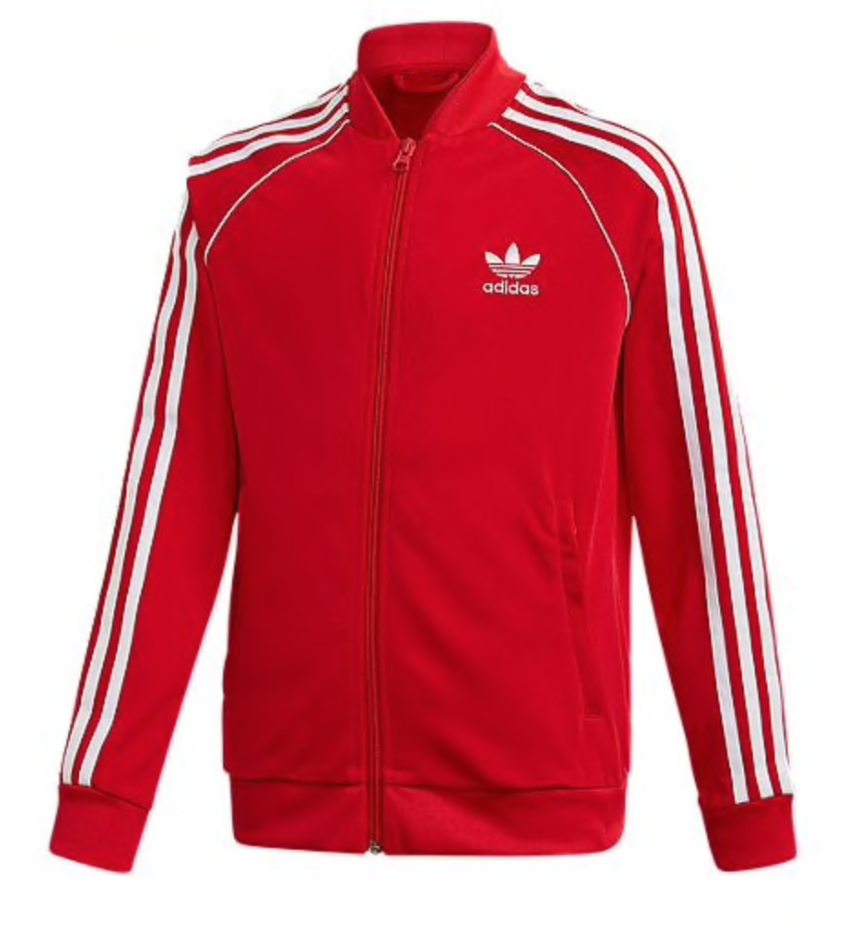 adidas Originals SST Track Top in Scarlet/White