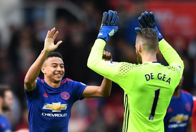 Jesse Lingard , David De Gea, Premier League, Manchester United, Middlesbrough, Jose Mourinho,