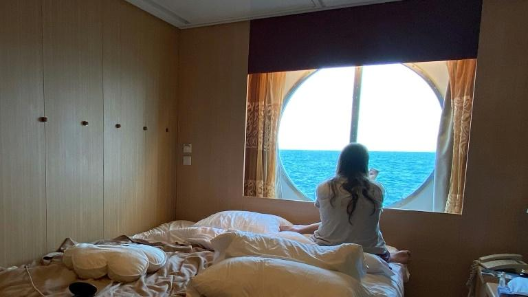 This photo provided by Brazilian DJ Caio Saldanha shows his cabin on the Celebrity Infinity cruise ship. He says he feels like a prisoner on the ship where he works, with no news about when he can go home (AFP Photo/-)
