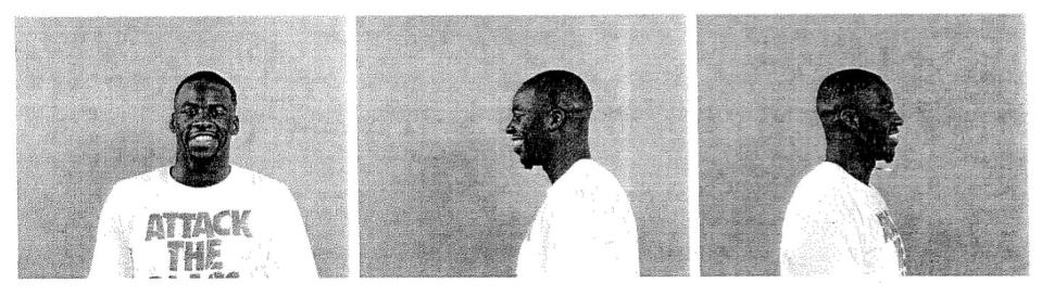 Draymond Green smiles in his mugshots. (East Lansing Police Department)