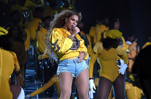 Beyoncé performs at Coachella Music Festival.