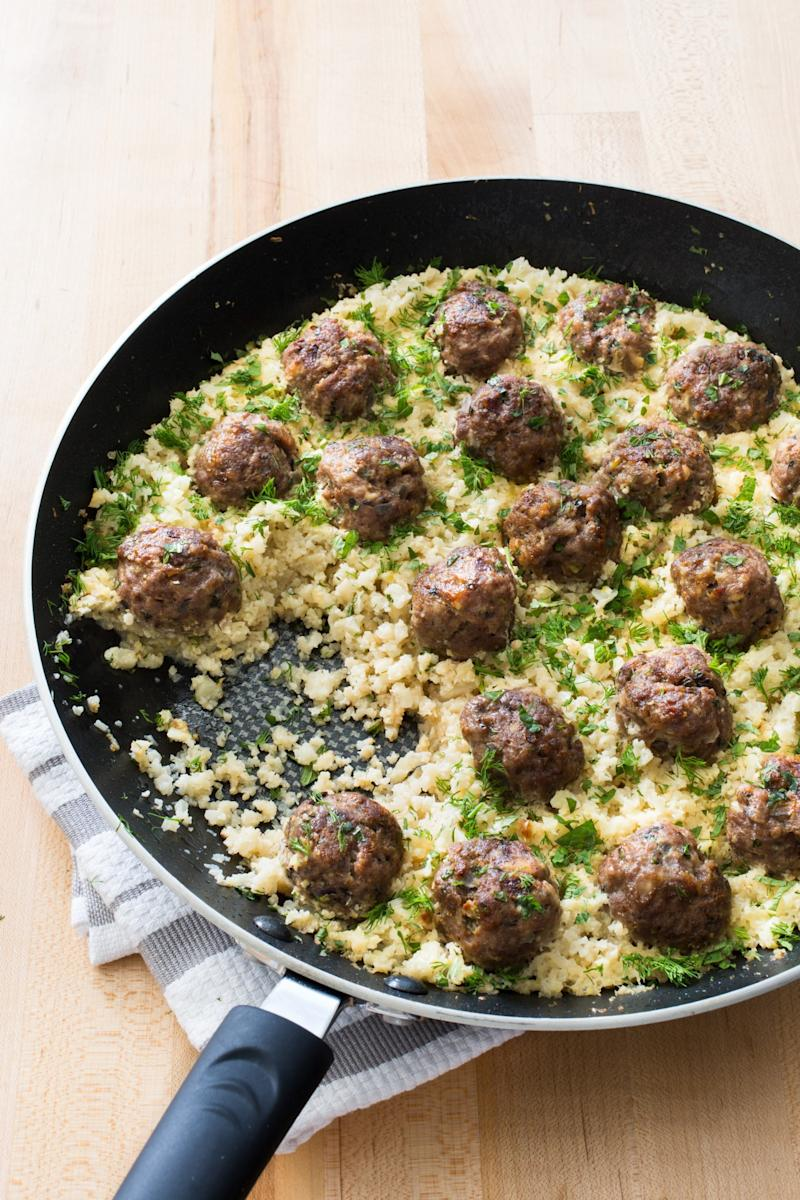 Greek lamb meatballs with cauliflower rice from paleo perfected 150 kitchen tested recipes by the editors at americas test kitchen americas test kitchen read more about yahoo foods cookbook of the week here forumfinder Image collections
