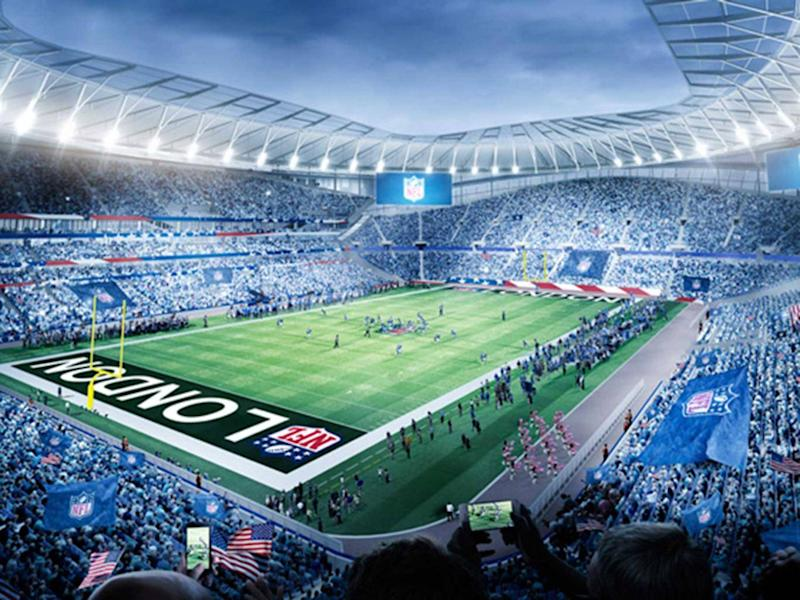 How the new Tottenham stadium will look hosting NFL fixtures (Getty )