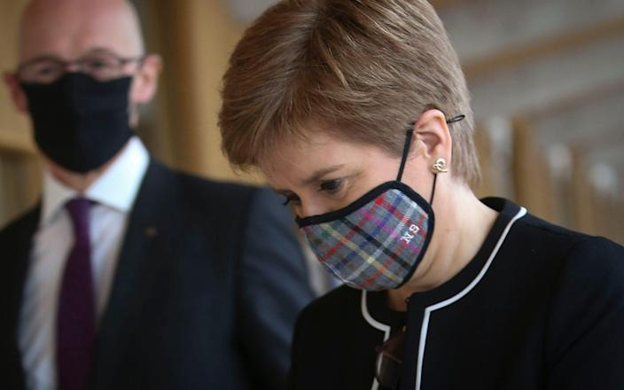 Nicola Sturgeon made her controversial comments on Wednesday evening - Pool/ Getty Images Europe