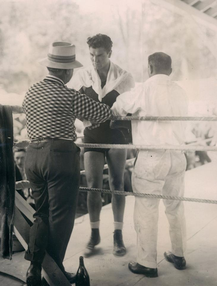 14. Jack Dempsey KO2 Luis Angel Firpo, Sept. 14, 1923 – The fight was a wild brawl and Dempsey had Firpo on the floor seven times in the first round. But Dempsey was down twice and once was knocked through the ropes. In the second, Dempsey blasted out Firpo, stopping him in the first minute of the round to retain the heavyweight title. (Photo credit: Getty)