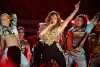 US singer Jennifer Lopez performed at the 2021 Global Citizen Live festival at the Great Lawn, Central Park on September 25, 2021 in New York City (AFP/Angela Weiss)